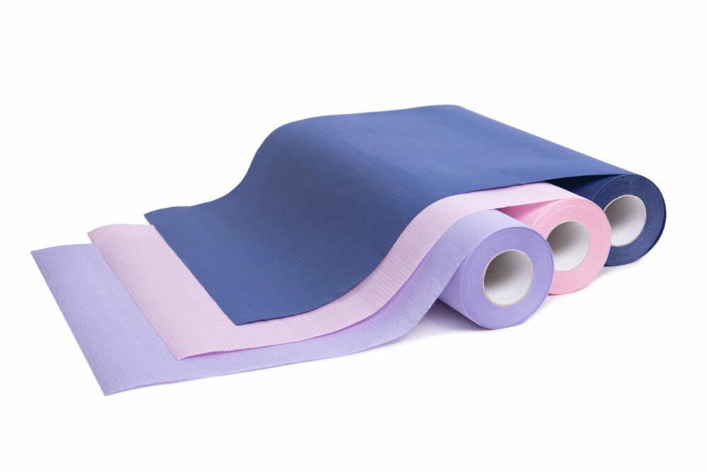 Podkład medyczny Medprox Comfort fioletowy, różowy, granatowy.