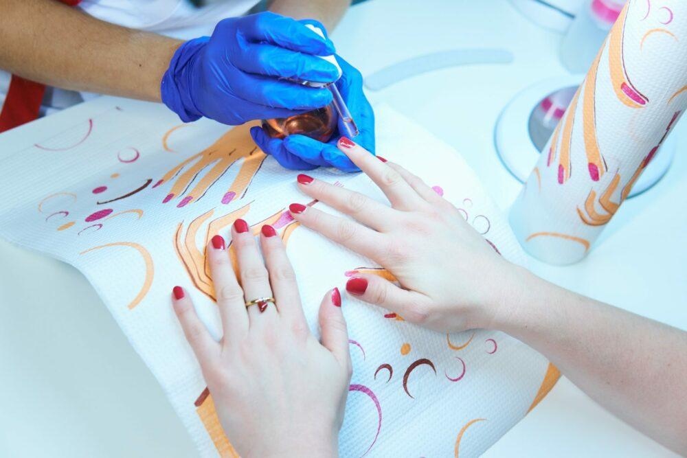 Podkład kosmetyczny do manicure.
