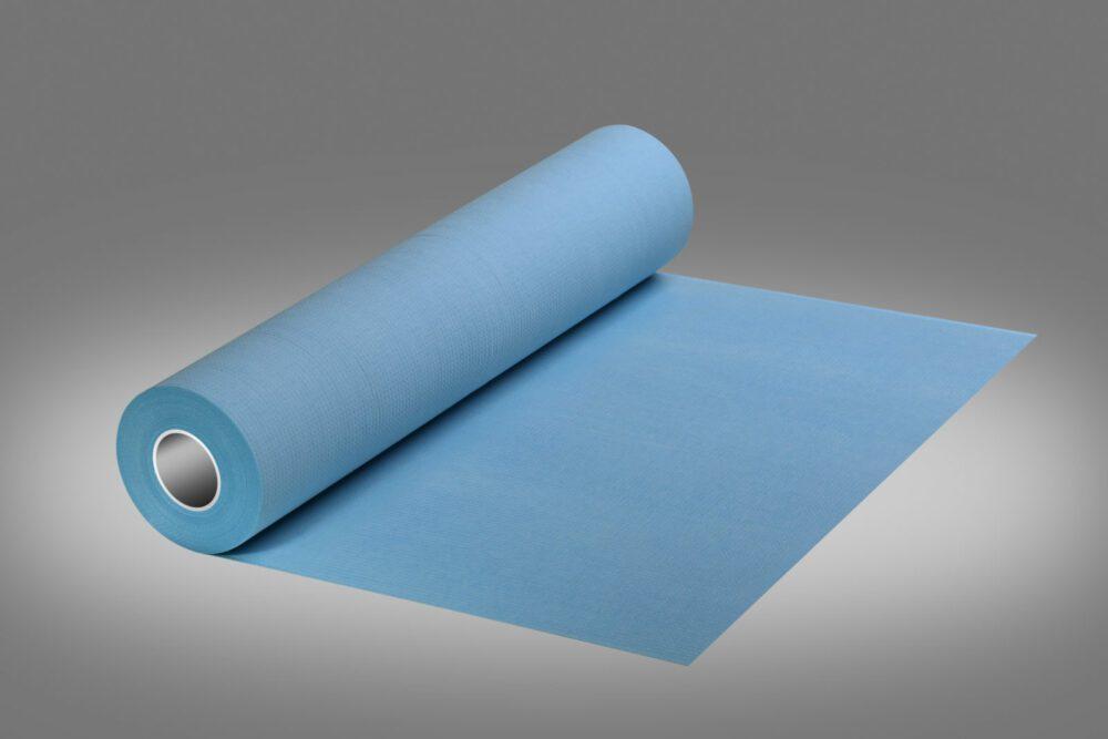 Podkład higieniczny w kolorze niebieskim.
