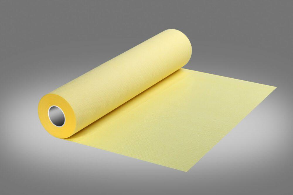 Podkład higieniczny w kolorze żółtym.