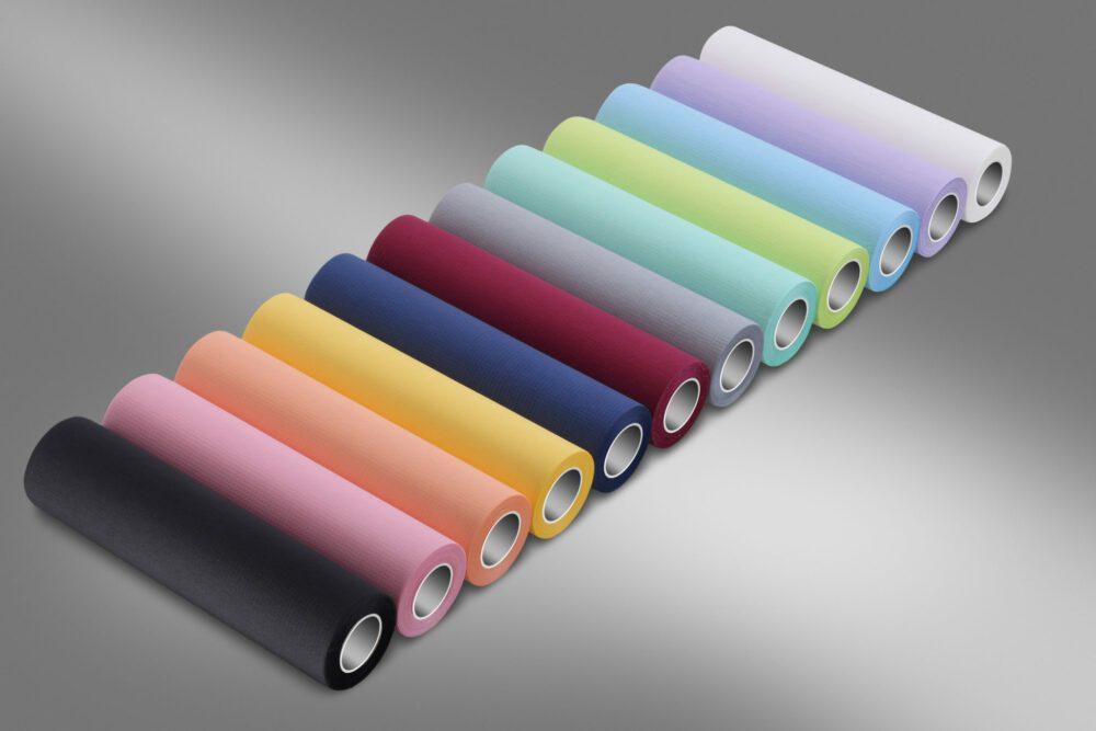 Kolorystyka higienicznych podkładów od Mustaf Medical.