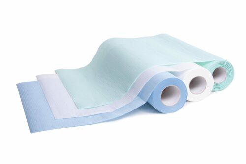 Jednorazowe podkłady higieniczne 33 cm, kolory: biały, niebieski i zielony.