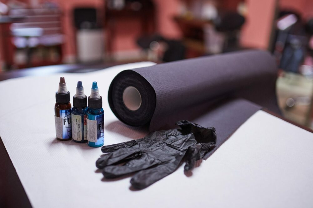 Higieniczne podkłady do studia tauażu Medprox Comfort.