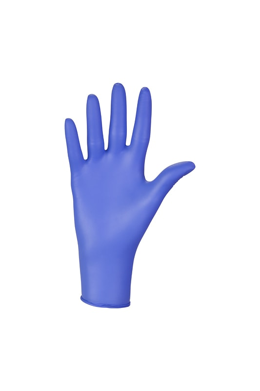 Rękawiczki nitrylowe Nitrylex Basic niebieskie.