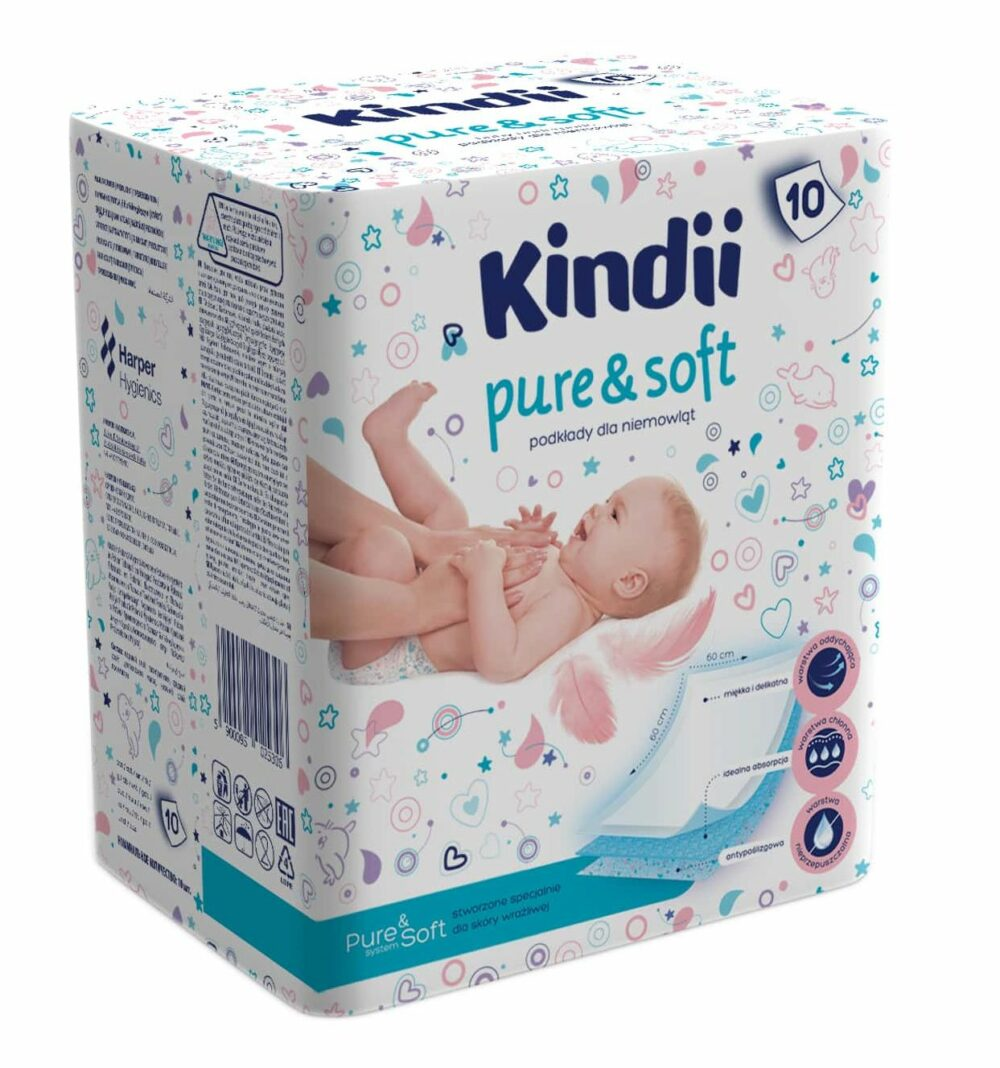Kindii Pure & Soft podkłady dla niemowląt.