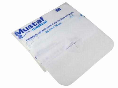 Podkład z wycięciem na twarz Mustaf Medical.